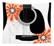 Floral Abstract Guitar 32 Tapestry