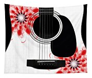 Floral Abstract Guitar 33 Tapestry