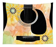 Floral Abstract Guitar 37 Tapestry