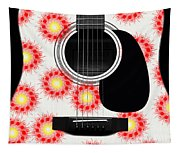 Floral Abstract Guitar 8 Tapestry