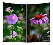 Floral Collage Tapestry