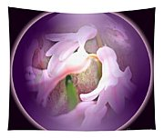 Floral Crystal Ball Tapestry