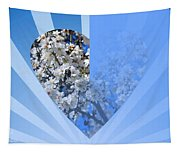 Floral Half Heart Tapestry