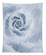 Floral Impression Cyanotype Tapestry