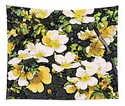 Floral Yellow Tapestry