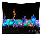 Florence Skyline - Nighttime 1 Tapestry