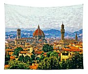 Florence Watercolor Tapestry