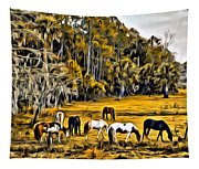 Florida Horses Two Tapestry