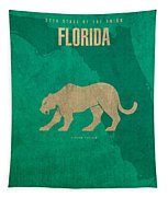 Florida State Facts Minimalist Movie Poster Art  Tapestry