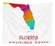 Florida State Map Collection 2 Tapestry