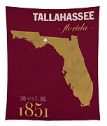 Florida State University Seminoles Tallahassee Florida Town State Map Poster Series No 039 Tapestry