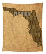 Florida Word Art State Map On Canvas Tapestry by Design Turnpike
