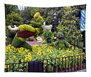 Flower And Garden Signage Walt Disney World Tapestry