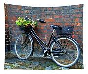 Flower Basket Bicycle Tapestry