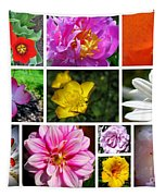 Flower Collage Tapestry by Patti Whitten