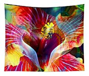 Flower Fire Power Tapestry