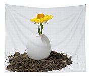 Flower Growing In A Egg Tapestry