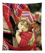 Flower Hmong Baby 01 Tapestry