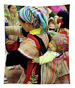 Flower Hmong Baby 03 Tapestry