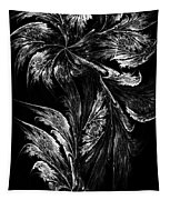 Flower In Black-and-white Tapestry