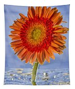 Flower In Water Tapestry