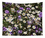 Flower Mix - Purple And White Tapestry