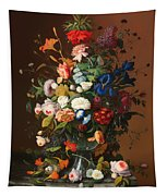 Flower Still Life With A Bird's Nest Tapestry