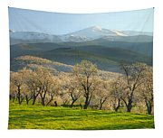 Flowering Almond At The Mountains Tapestry