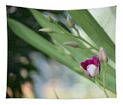 Flowering  Orchid Stem Tapestry