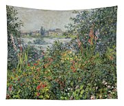 Flowers At Vetheuil Tapestry