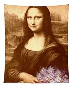 Flowers For Mona Lisa Tapestry
