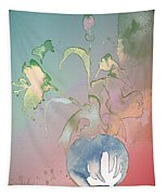 Flowers Ghosts Tapestry