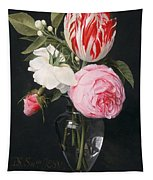 Flowers In A Glass Vase Tapestry