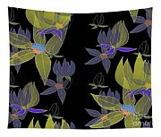 Flowers On Black Tapestry