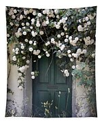 Flowers On The Door Tapestry