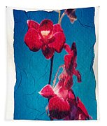 Flowers On Watercolor Paper Tapestry