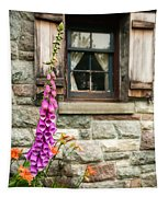 Flowers Stone And Old Country Window Tapestry