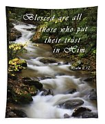 Flowing Creek With Scripture Tapestry