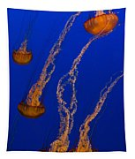 Flowing Pacific Sea Nettles 3 Tapestry