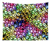 Fluorescent Straws Tapestry