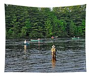 Fly Fishing West Penobscot River Maine Tapestry