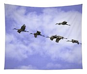 Flying In Formation Tapestry