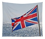 Flying The British Flag Tapestry