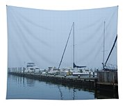 Fog On The Marina - Jersey Shore Tapestry