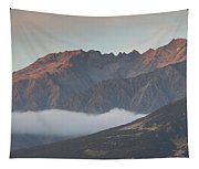 Fog Over Mountain At Dawn, Aorakimount Tapestry