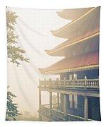 Foggy At The Reading Pagoda Tapestry