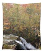 Foggy Brandywine Falls Tapestry