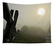 Foggy Country Road Tapestry