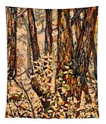 Foggy Forest Edge Tapestry