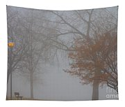 Foggy Lake View Tapestry